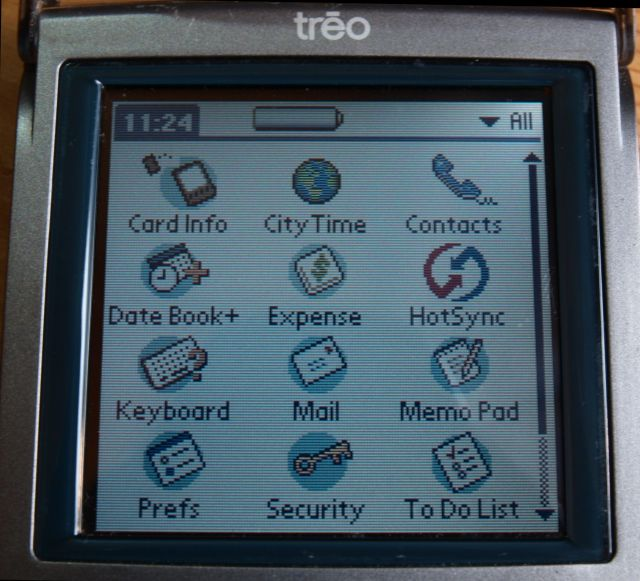 handspring Treo90 front screen