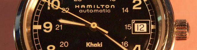 身近な小物達(Hamilton khaki automatic)