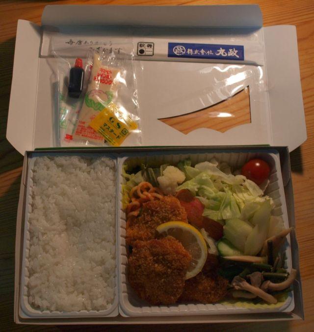 高原野菜とカツの弁当2