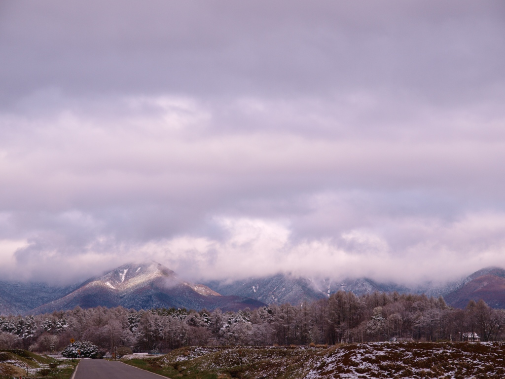 春雪の八ヶ岳