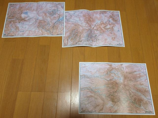 赤色立体地形図八ヶ岳周辺2