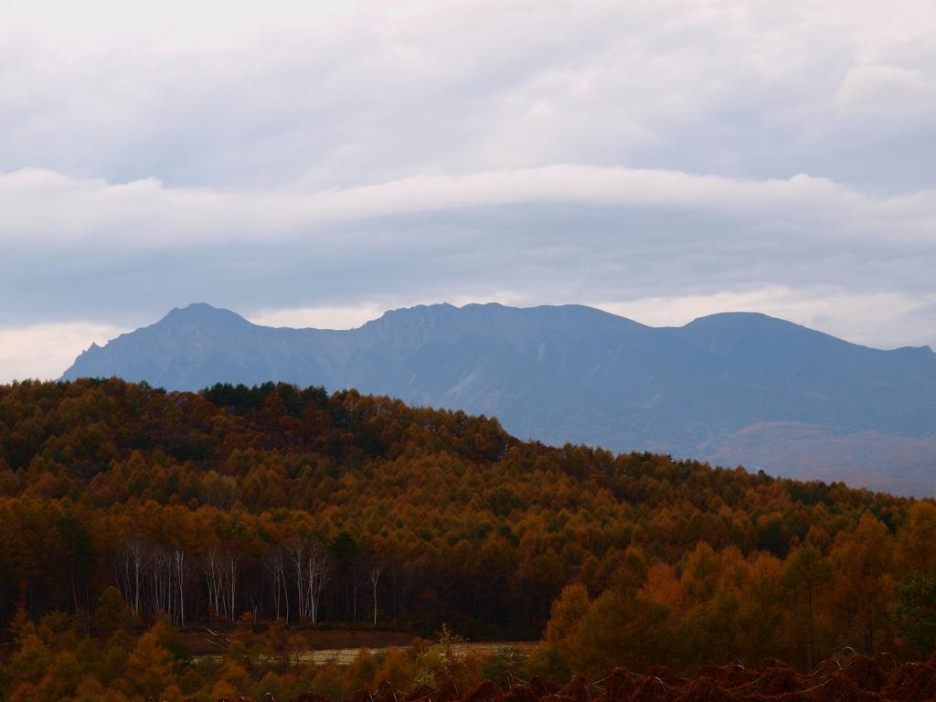 信州峠から八ヶ岳遠望
