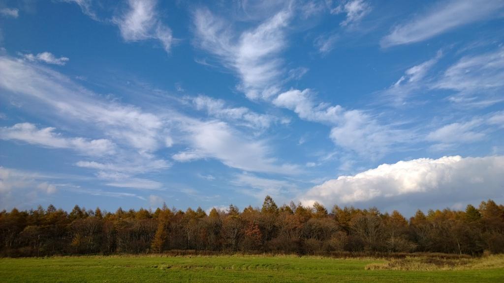 秋空の野辺山2