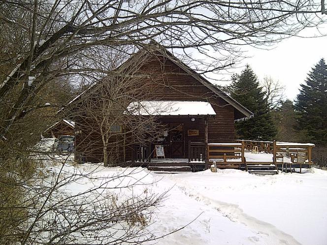 雪の合間にちょっとお散歩なら(清泉寮とやまねミュージアム)