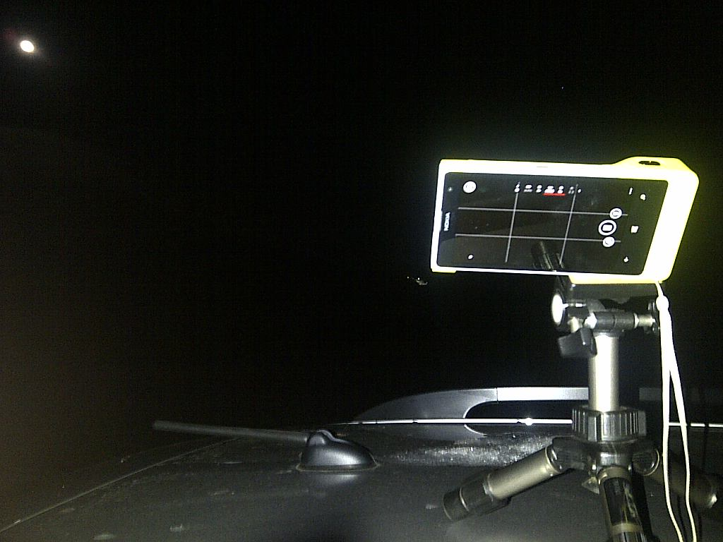Lumia1020夜景撮影状態