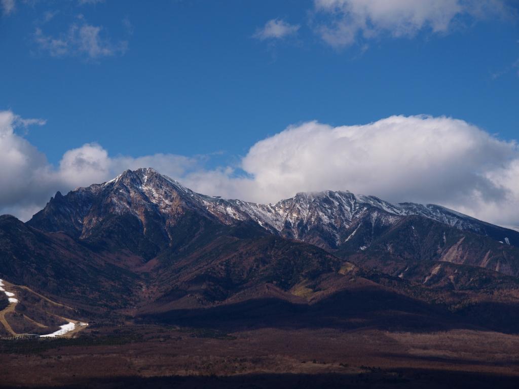 平沢峠から初冬の八ヶ岳アップ