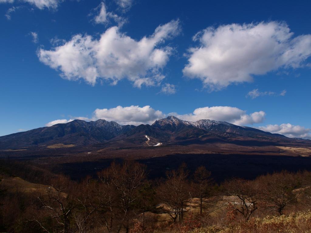 平沢峠から冬の八ヶ岳東麓
