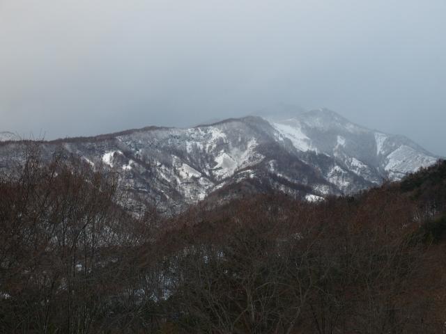 雪雲に霞む八ヶ岳