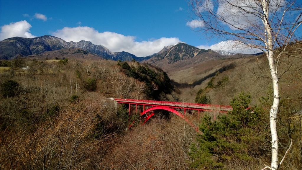 東沢大橋より初冬の八ヶ岳