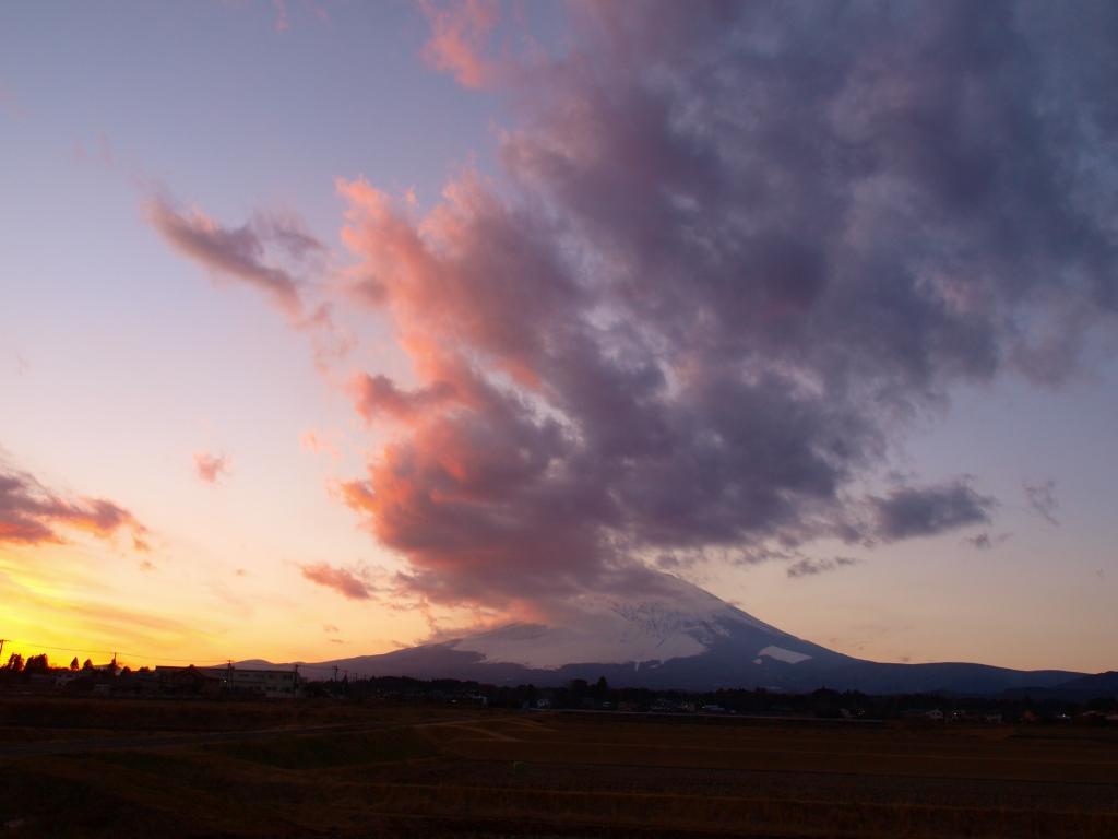 2014新春の富士山夕景(E420)修正後