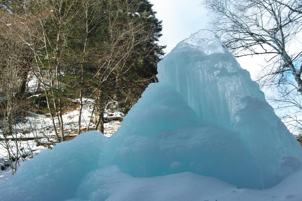 明治温泉の氷柱4