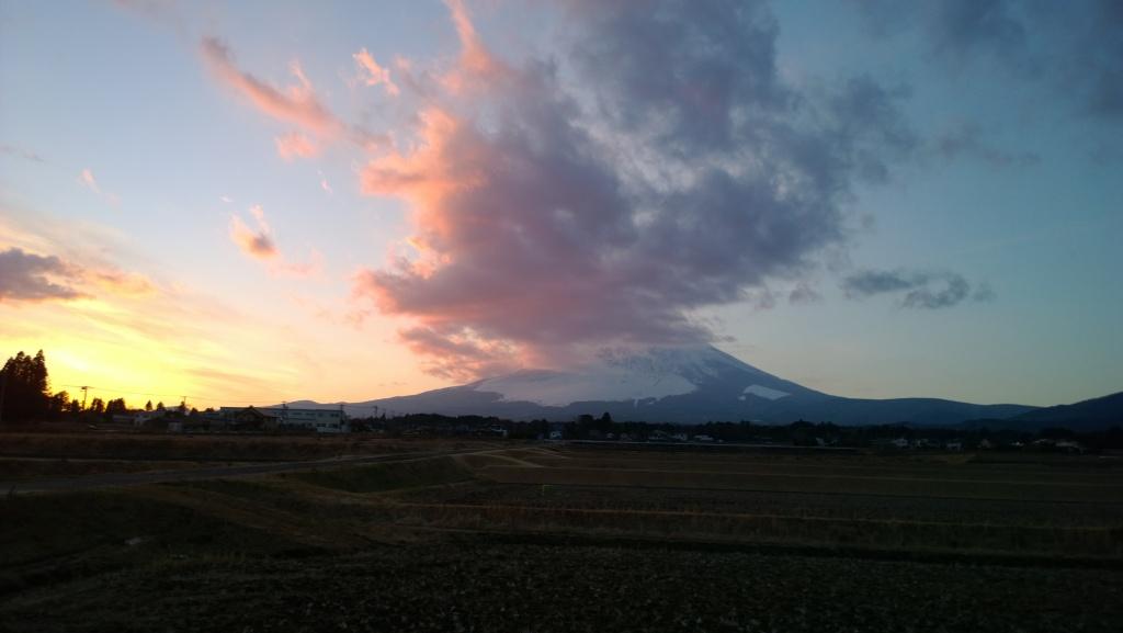 2014新春の富士山夕景(Lumia1020)