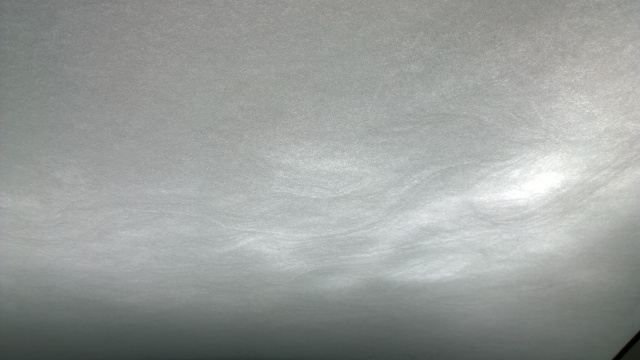 フロントウィンドウに着雪した雪の文様