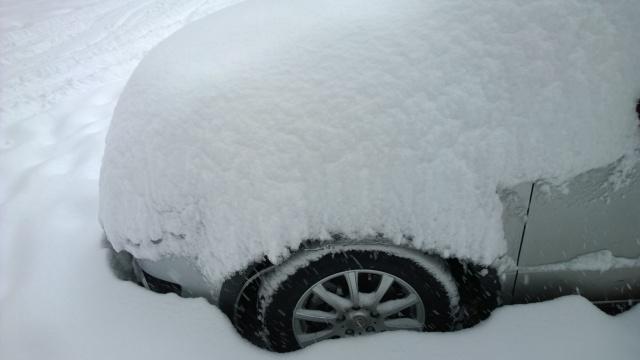 2/14午後の積雪と愛車SX4