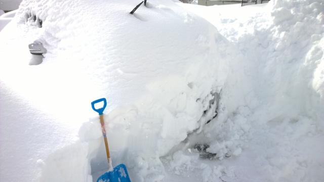 2/15昼の駐車場の車まで到達した状態