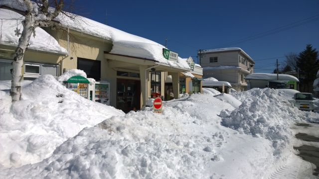 2/16朝の小淵沢駅の様子