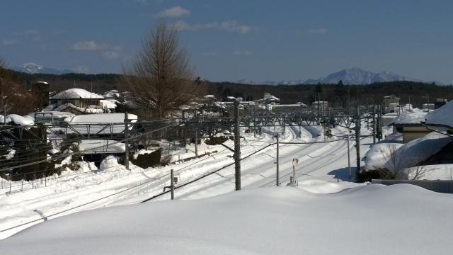 2/17小淵沢駅構内の様子