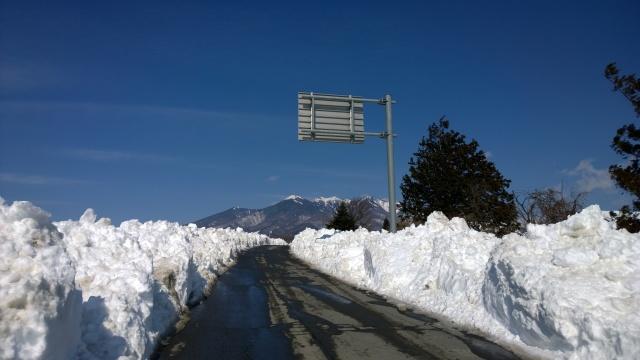 2/17小淵沢町内の様子(除雪後の景色1)