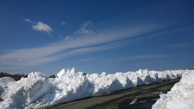 2/17小淵沢町内の様子(除雪後の景色2)