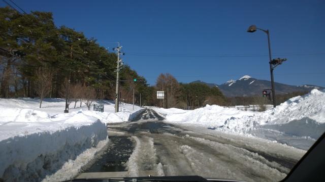 2/18八ヶ岳エコーライン乙事交差点