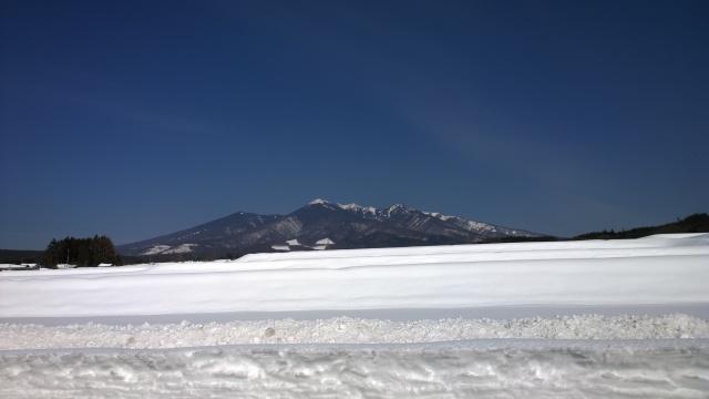 葛窪から雪原越しの八ヶ岳