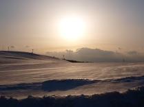 彼岸の夕暮れに霧ヶ峰滑空場1