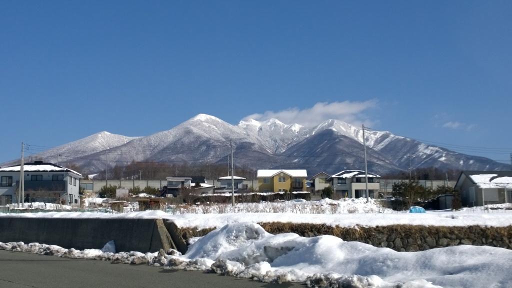 雪明けの改正の八ヶ岳140307