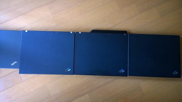 歴代ThinkaPadの奥行き比較