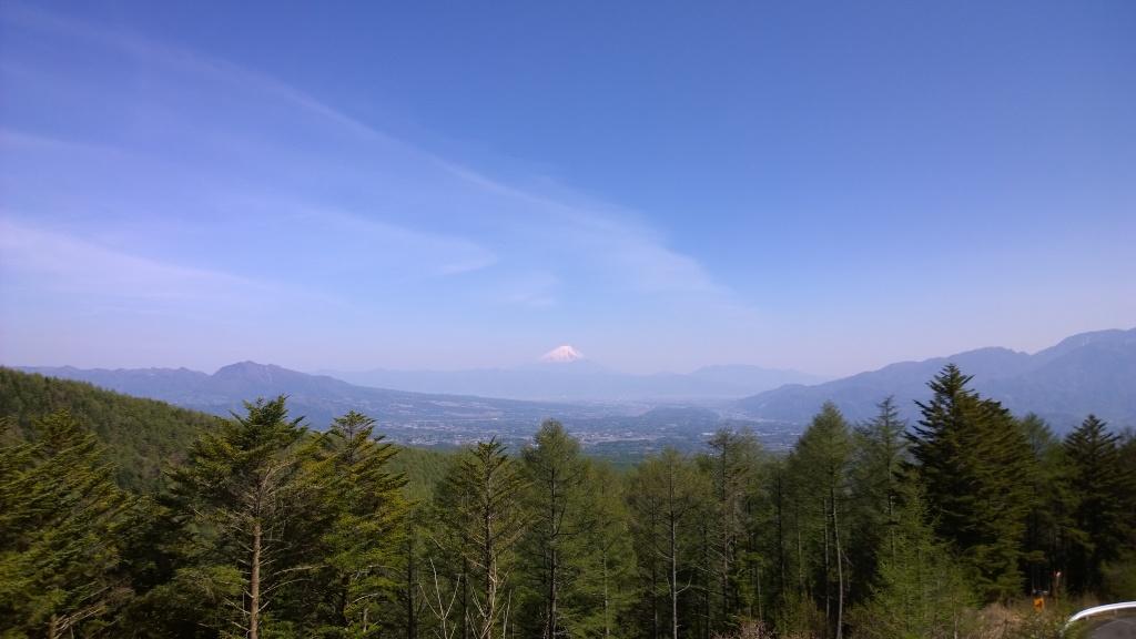 新緑の観音平から富士山を
