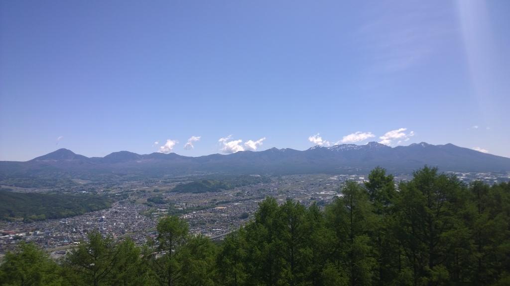 杖突峠から八ヶ岳連峰