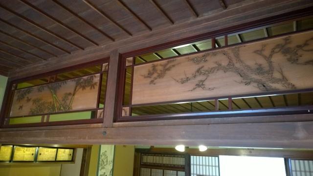 韮崎市民俗資料館・蔵屋敷内部2欄間