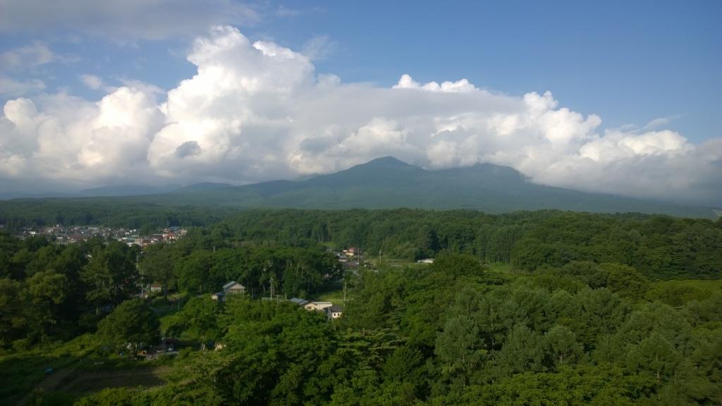 立沢大橋から望む八ヶ岳連峰