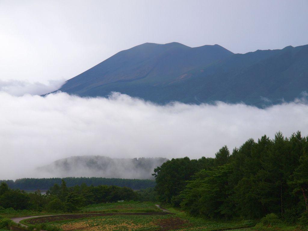 嬬恋村から雲海の浅間山