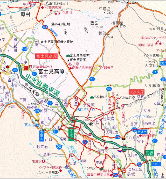 小淵沢バスマップ