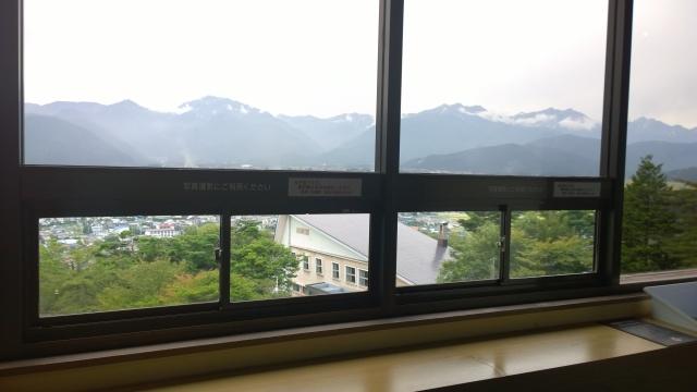大町山岳博物館3階展望台2