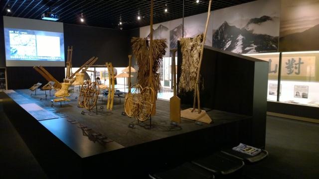 大町山岳博物館1階山岳展示2