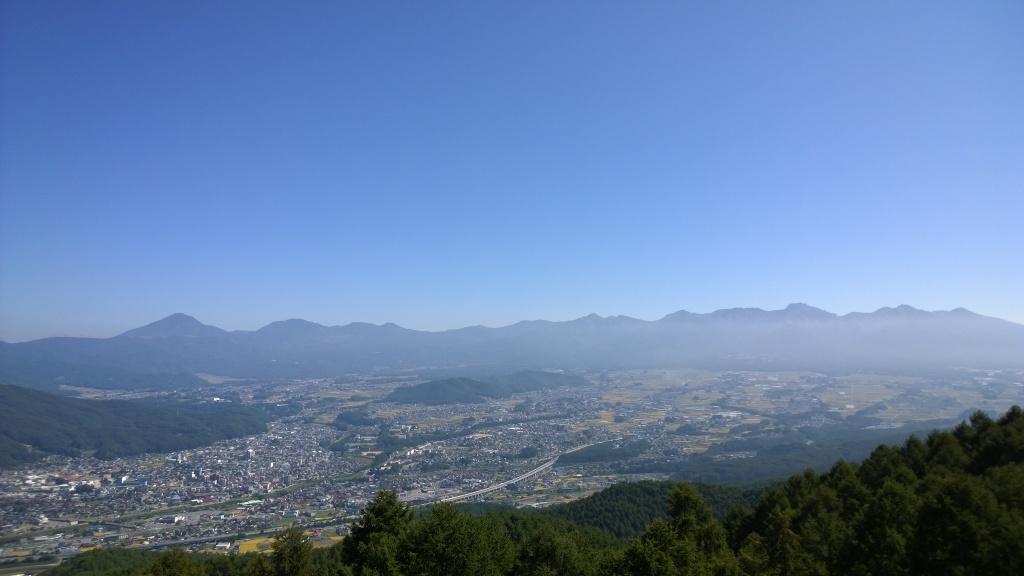杖突峠から秋の南八ヶ岳