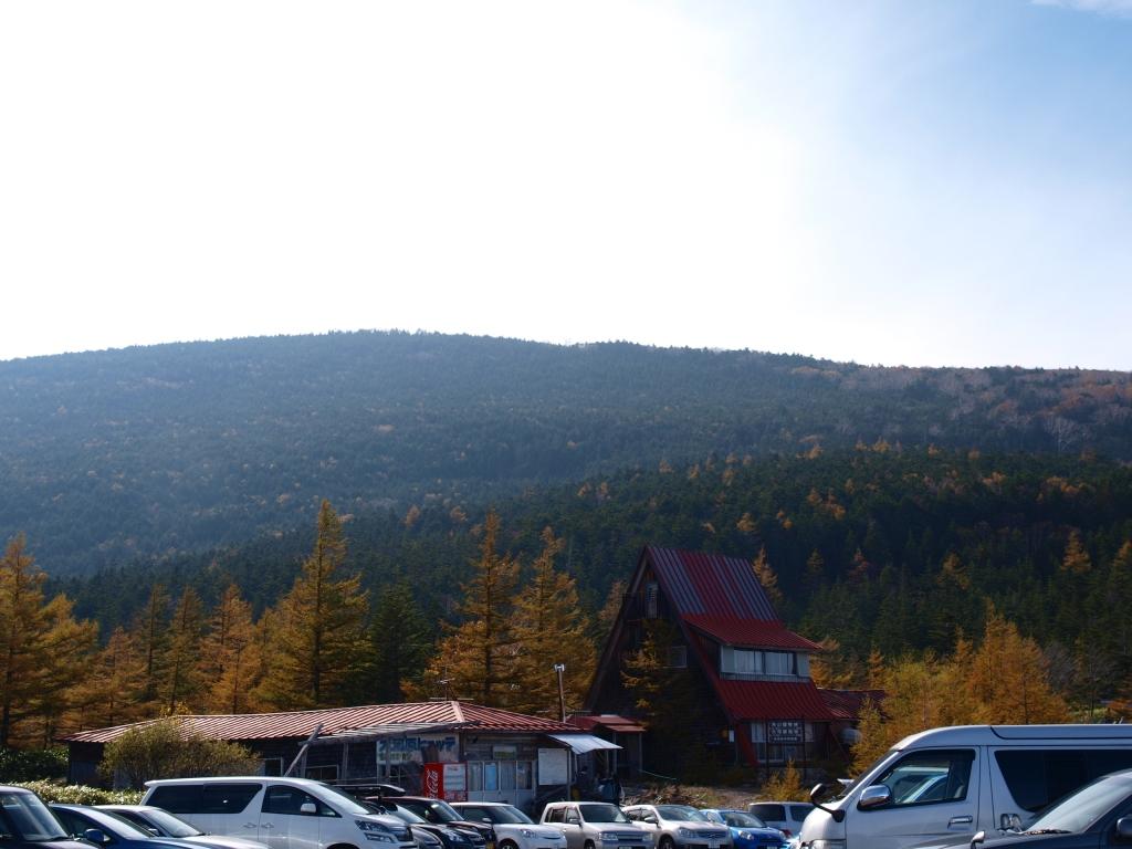 紅葉の大河原峠から蓼科山山頂
