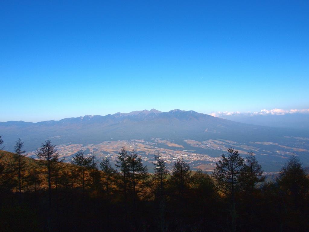 入笠山から望む秋の八ヶ岳連峰1