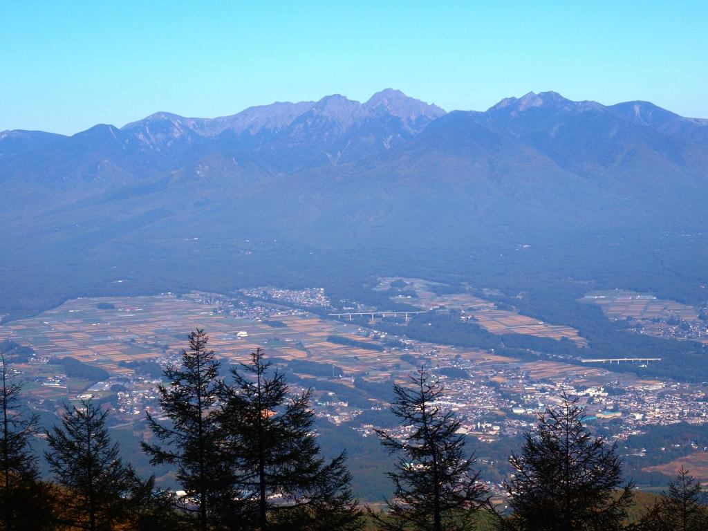 入笠山から望む秋の八ヶ岳連峰2