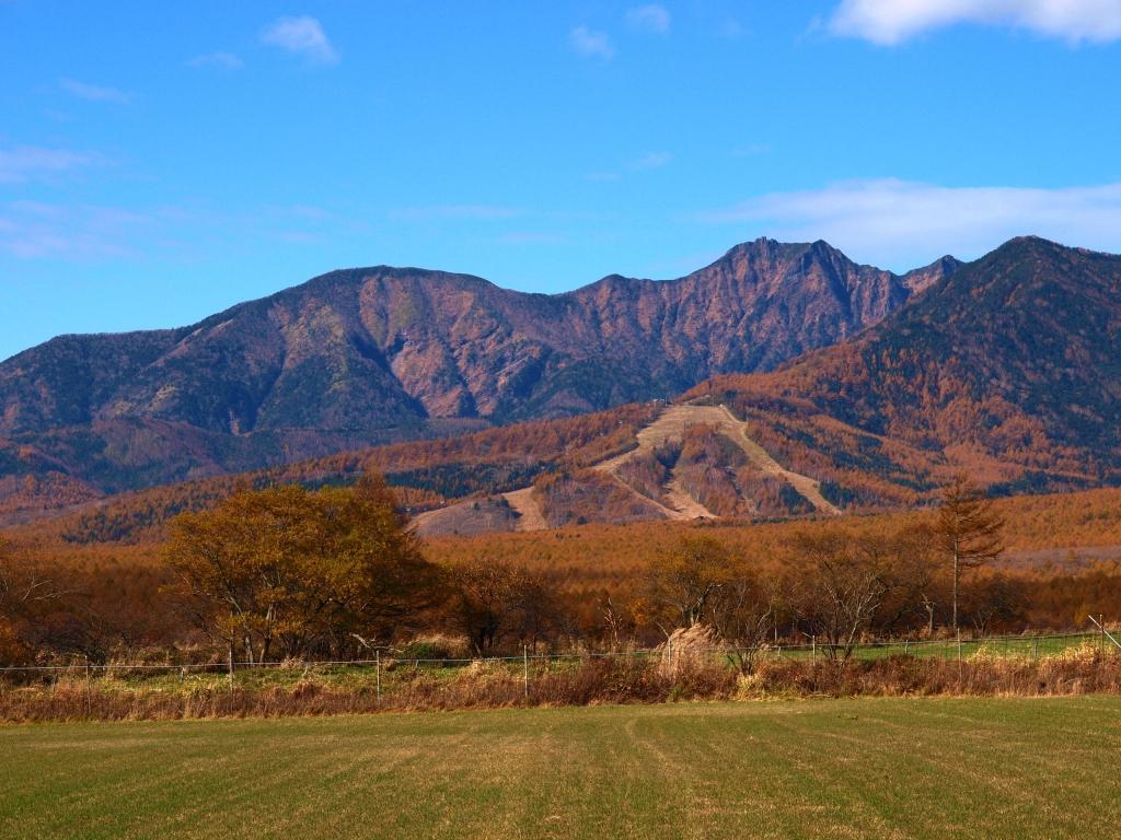 野辺山から望む黄葉の八ヶ岳2