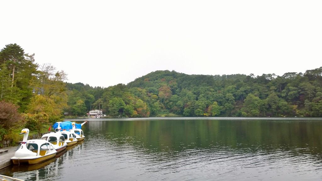 松原湖の紅葉141004