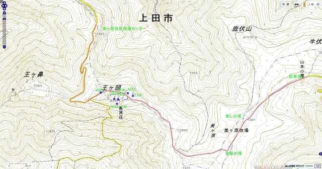 美ヶ原map