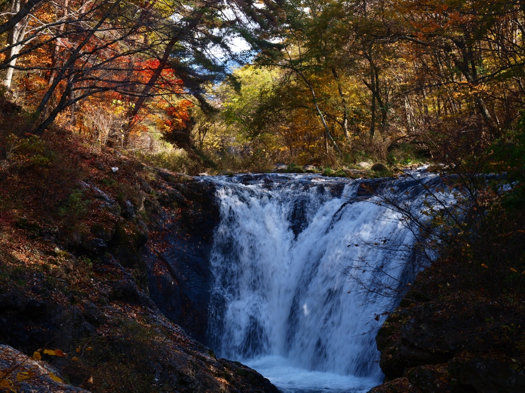 多留姫滝の紅葉20141103
