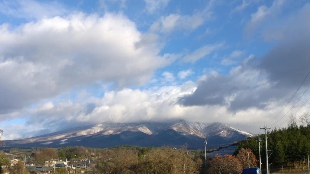雪雲に覆われる八ヶ岳2014.12.5