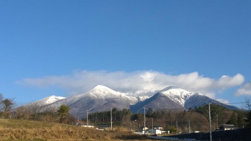 冠雪した八ヶ岳2014.12.8