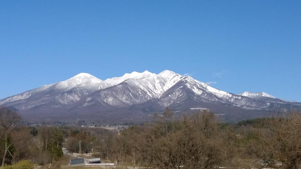 長坂より年の瀬の八ヶ岳