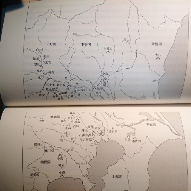享徳の乱と太田道灌合戦場地図例