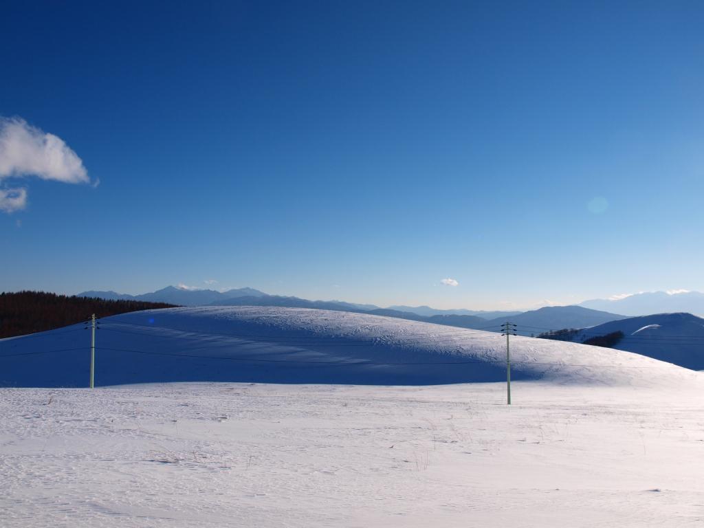 車山から望む雪原