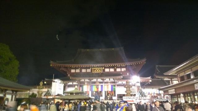 川崎大師の初詣20150101
